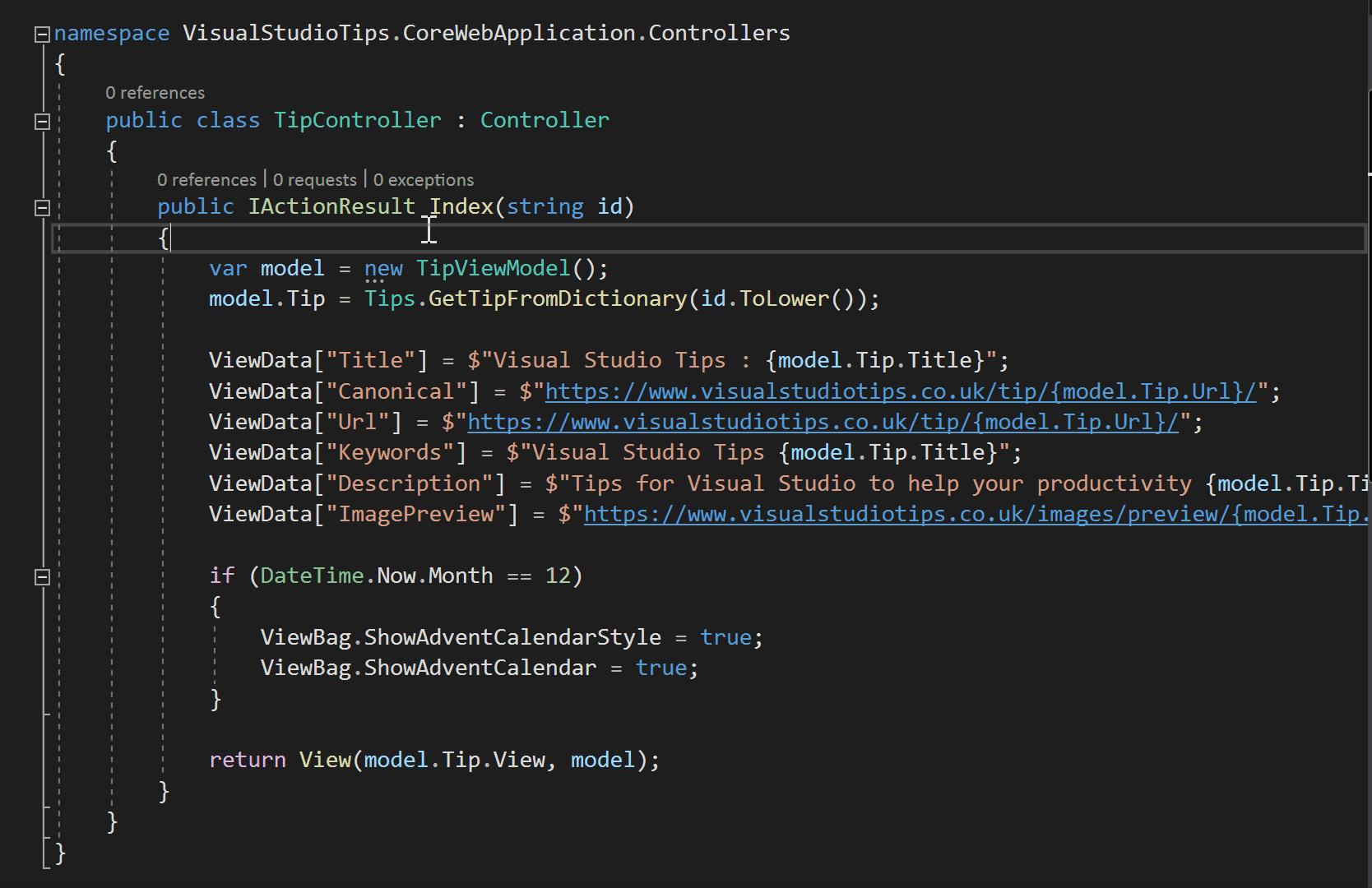 Visual Studio Tips : Go To Matching Bracket